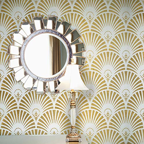 Royal Design Studio Stencils Great Gatsby Glam Art Deco Wall Stencil - DIY Glamourous Wallpaper