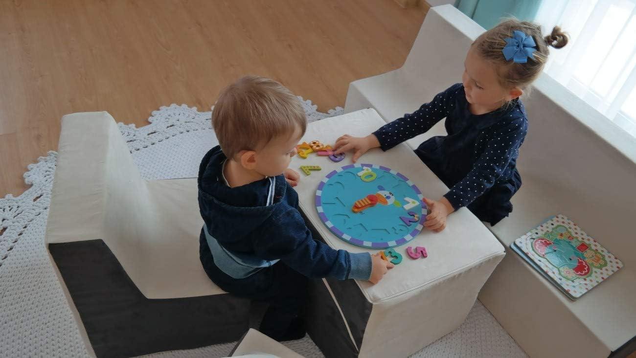 Farbe: blau Velinda Kindersofa Kindercouch Spielsofa Softsofa Minicouch Sitzbank Kinderm/öbel