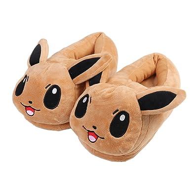 HUGEE Cartoon Brown Cute Eevee Plush Slipper Home Slipper Anime Cotton  Slipper Winter Slipper  Amazon.co.uk  Shoes   Bags 60b7e113d8