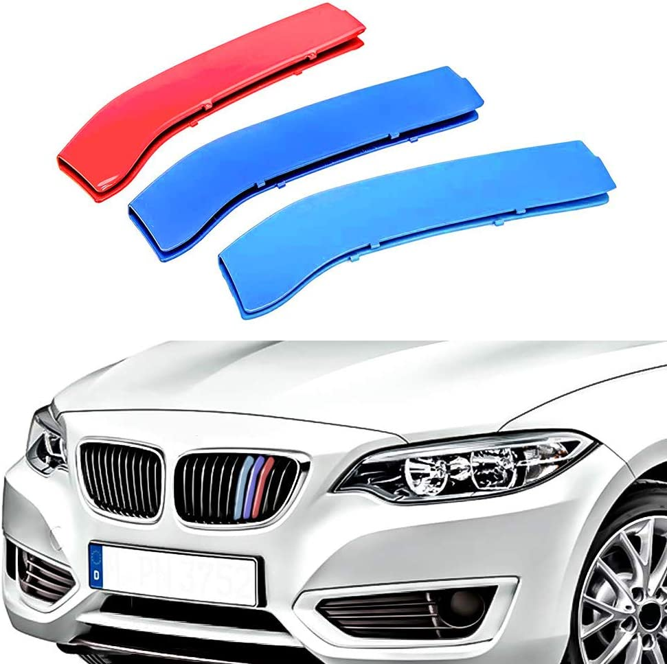 For B M W 2 Series F22 F23 218i 220i 228i M235i 2014-2018 8 Grille 3D Front Grille Strips Motor sports M Color Insert Trim Grill Cover Stickers Decoration