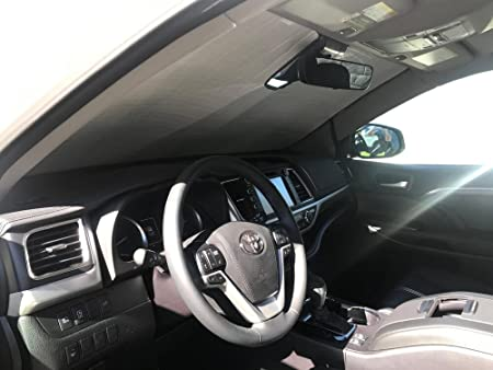 Custom-fit Windshield Sun Shade AutoTech Zone Sun Shade for 2014-2018 Toyota Highlander SUV