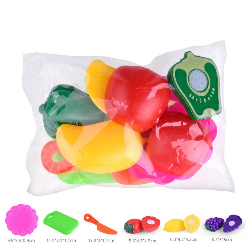24PCS Role Play Kitchen toys ,Mamum Kids Pretend Role Play Kitchen Fruit Vegetable Food Toy Cutting Set Gift Toy (24PC)