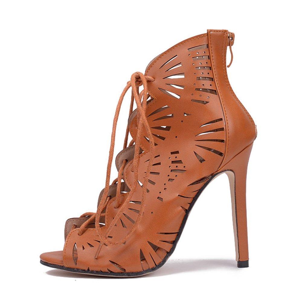 Frauen Roman Schuhe Slip-On Sandalen High Heels Sexy Knöchelriemen Sandalen Slip-On Party Hochzeit Pumps Damen Kleid Peep Toe Schuhe 7d819c