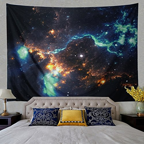 Leofanger Galaxy Tapestry Wall Hanging Landscape Planet Tapestry, Moon Tapestry Milky Way Tapestry Starry Sky Tapestry Universe Tapestry, Sunset Wall tapestry Psychedelic Wall Art (Landscape Tapestry)