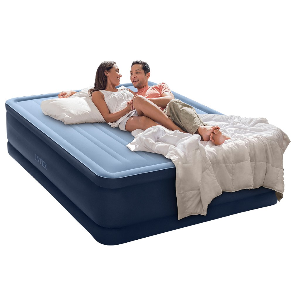 Intex Premaire Series Robust Comfort Airbed with Built-In Electric Pump, Bed Height 20'', Queen - Amazon Exclusive by Intex (Image #1)