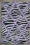 Zebra with Light Purple French / Memo Board (10'' x 15'')