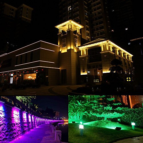 Ustellar 2 Pack 30W RGB LED Flood Lights, Outdoor Color Changing Floodlight with Remote Control, IP66 Waterproof 16 Colors 4 Modes Dimmable Wall Washer Light, Stage Lighting with US 3-Plug by Ustellar (Image #9)