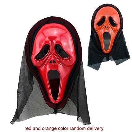 Mascara Halloween Hombre, Zolimx Miedo Cráneo Esqueleto Ropa Fantasma + Cráneo Diablo Máscara Cosplay Disfraz de Halloween: Amazon.es: Juguetes y juegos