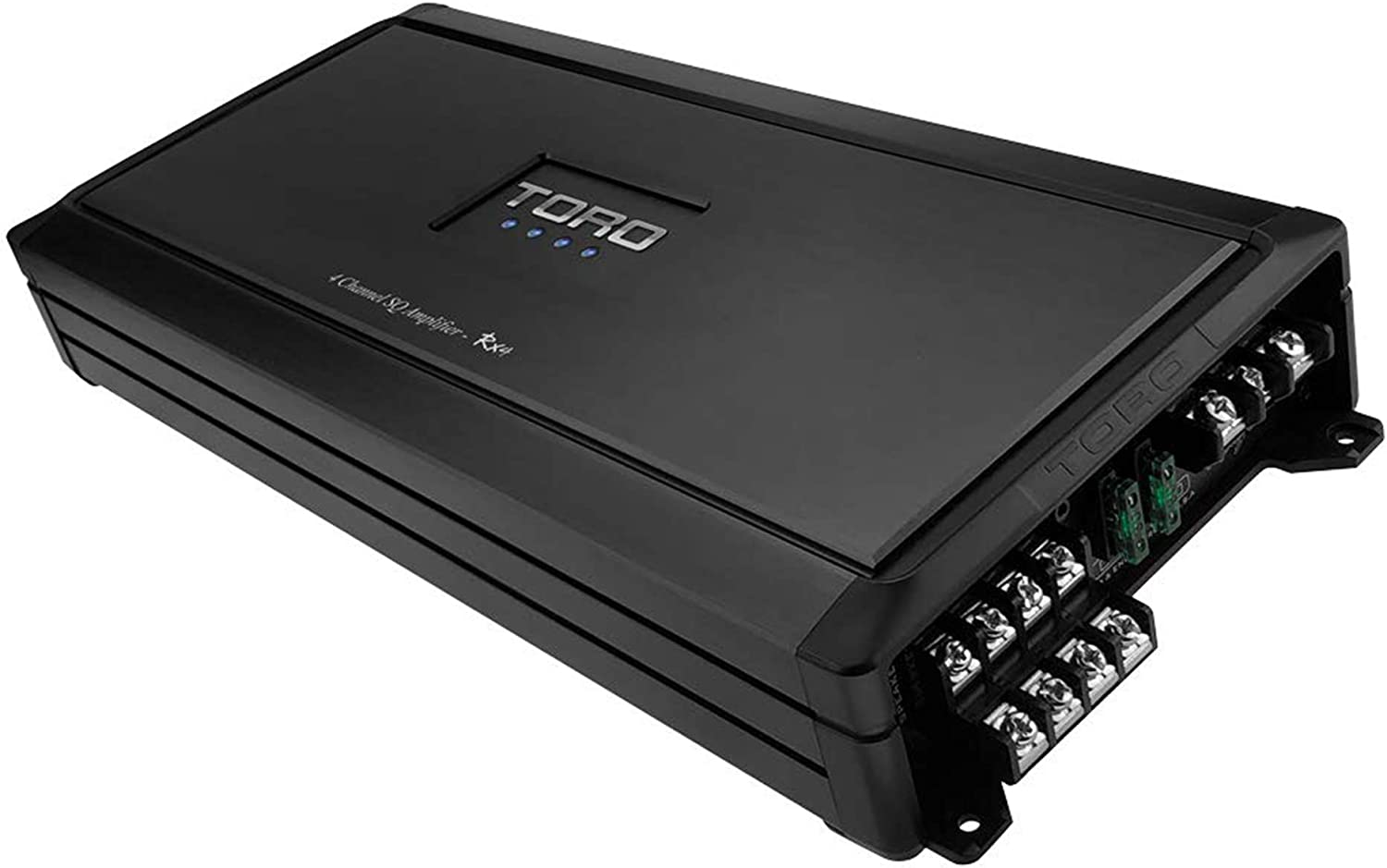 Sound Quality Class A//B Design TORO TECH 100 Watts x 4 RMS @ 4 Ohm 1200 Watts Peak 4 Channel Car Amplifier RX4S Built-in Auto Sensing Turn-On Full Range Speaker or Subwoofer Amplifier
