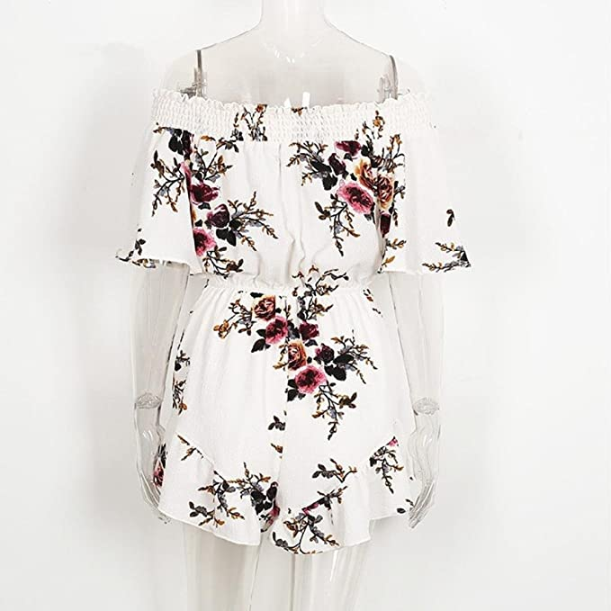 Amazon.com: Mujer con Estampado Floral Short de playa Sexy ...
