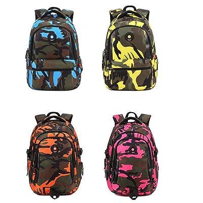 Nuobo Rivets Camouflage Design Children Students Schoobag Backpack Teen Girls Boys Bookbag Outdoor Daypack