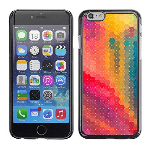 abstract pixelated pink yellow painting Apple iPhone 7 (4.7 inchesHard Printing Protective Cover Protector Sleeve Shell Case Cover