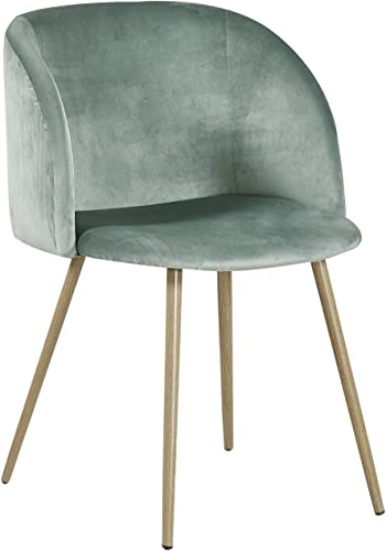 Dorafair Upholstered Dining Chairs Velvet Armchair Mid Century Modern Chairs Living Room Chair Makeup Chair Side Chairs