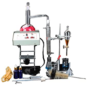 Kit de destilador de agua pura de aceite esencial de apparato destilador de laboratorio, 1000