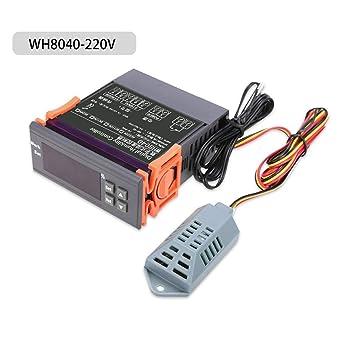 Controlador de humedad digital, compacto y ligero LED Termostato digital Controlador de humedad y temperatura