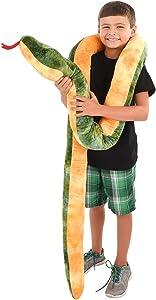 Rhode Island Novelty Giant Anaconda Snake Plush Toy 100 Inch Long