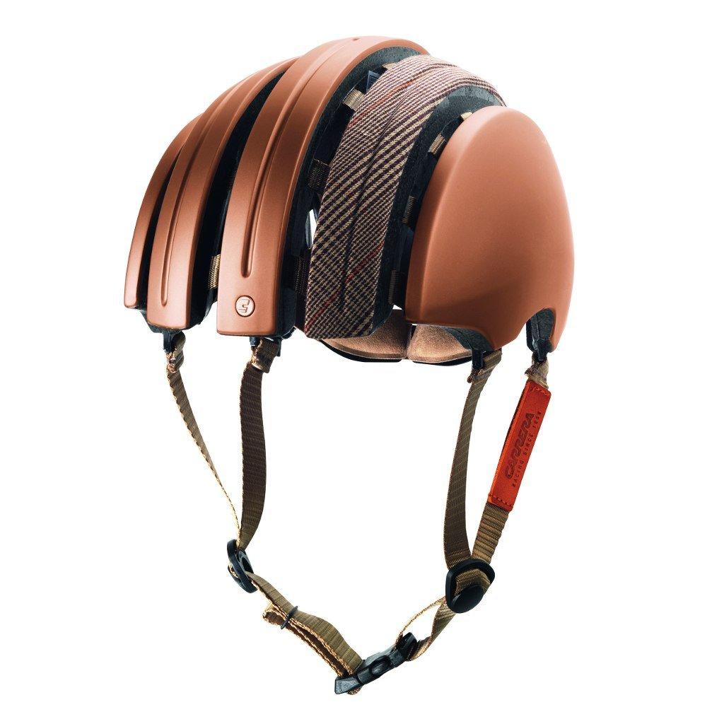 Brooks Foldable Helmet Carreraコラボレーション、布製カバー、大、銅/ブラウンのプリンスオブウェールズ   B01CPXX1OQ