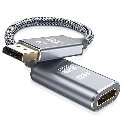 Adaptador DisplayPort a HDMI, Adaptador de Pantalla 4K DP a HDMI ...