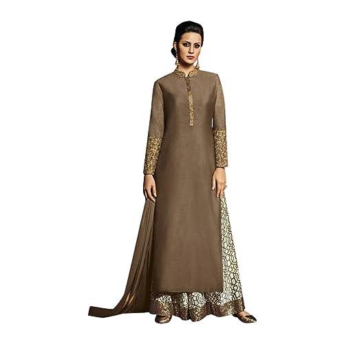 Indiano Etnico Casual e formale corta tuta da corta kurva Suitato anarakli salwar suit ,straight sui...