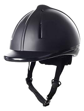 HKM Easy Plain - Casco de equitación, color negro, tamaño 48-52 cm: Amazon.es: Deportes y aire libre