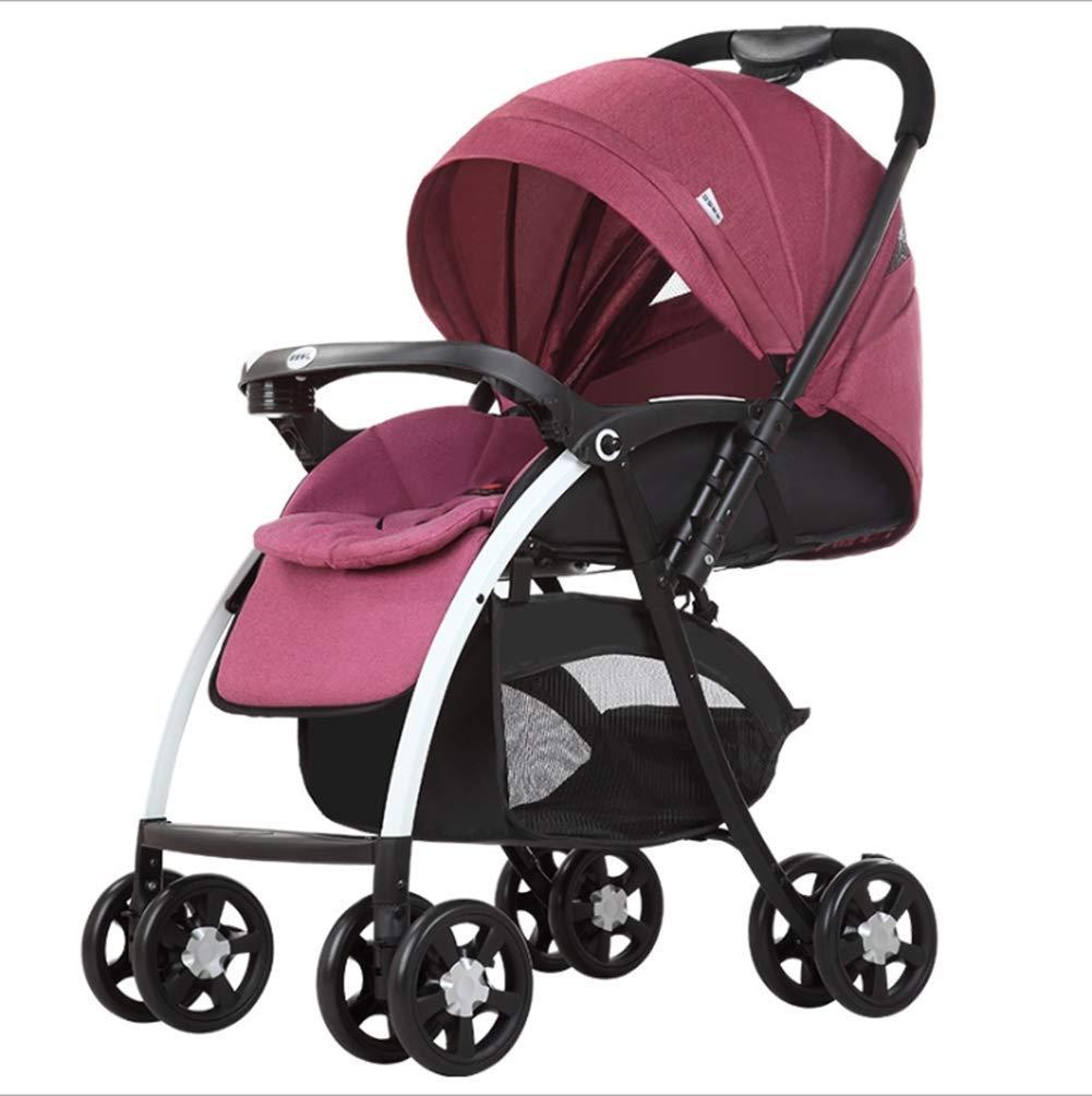 JJLL Sistema de Viaje del Cochecito 3 en 1 Cochecito de bebé Buggy Bebé Silla de Paseo para niños Reversa o Delantera Cubierta para la Lluvia Mosquitera ...