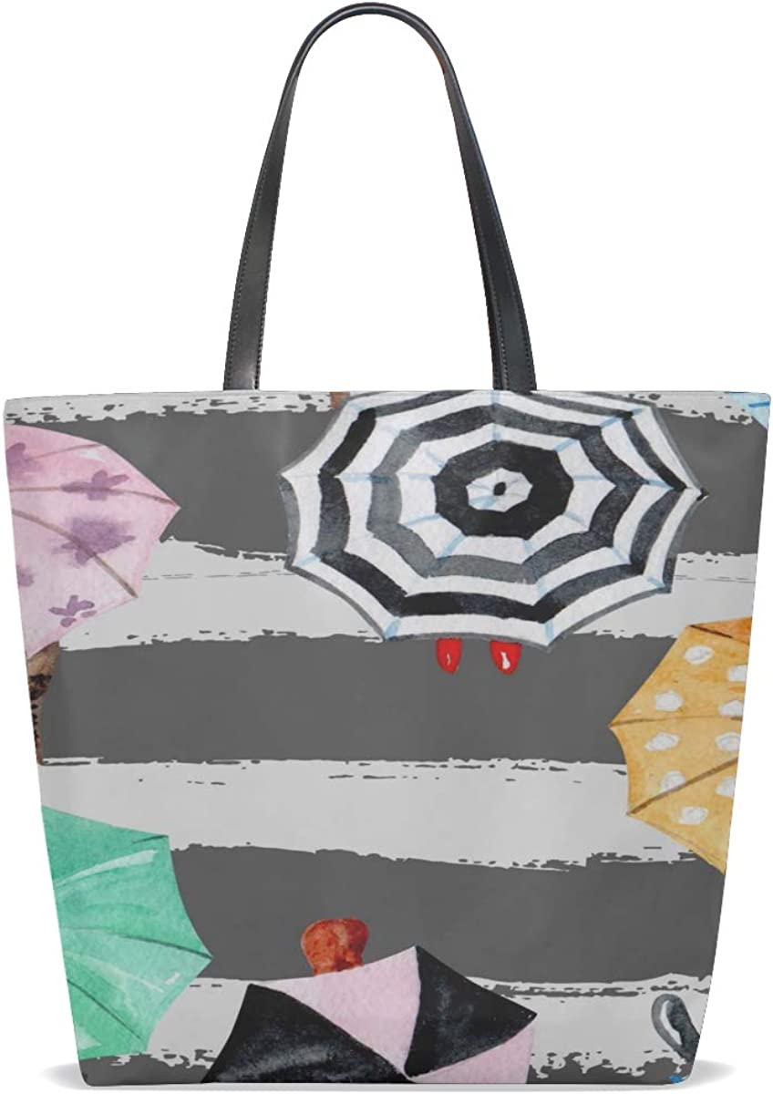Tote Travel Bag For Women Handle Satchel Simple Shoulder Bag Purse Messenger Bags Tote Bag Men Cute Colorful Beautiful Hook Umbrella Printing Tote Bag Travel
