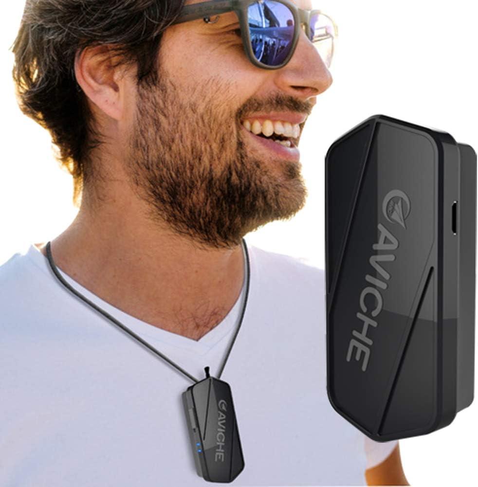 CYCPACK Limpiador usable Collar Deporte los Hombres Aire - Iones Negativos purificador Aire, Recargable Collar Aire Fresco Coche USB, purifica el Aire los gérmenes eliminación, el Polvo, los Virus