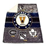 NHL Mink and Sherpa Blanket
