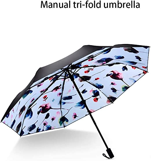Sunny Umbrella Umbrella Parasols 2 Layer Sun Protection Sun Umbrella fold Very Light Anti-UV