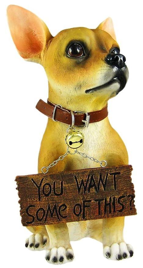 Superbe U0026quot; Cute Chihuahua Dog Un Welcome Statue