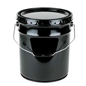 5 Gallon Open-Head Steel Pails w/Lid Cover,Unlined Rust-Inhibitor