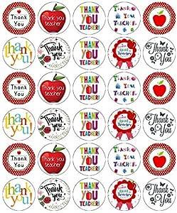 Teachers Thank you Cupcake Toppers Edible Icing Sheet 24 x 4cm