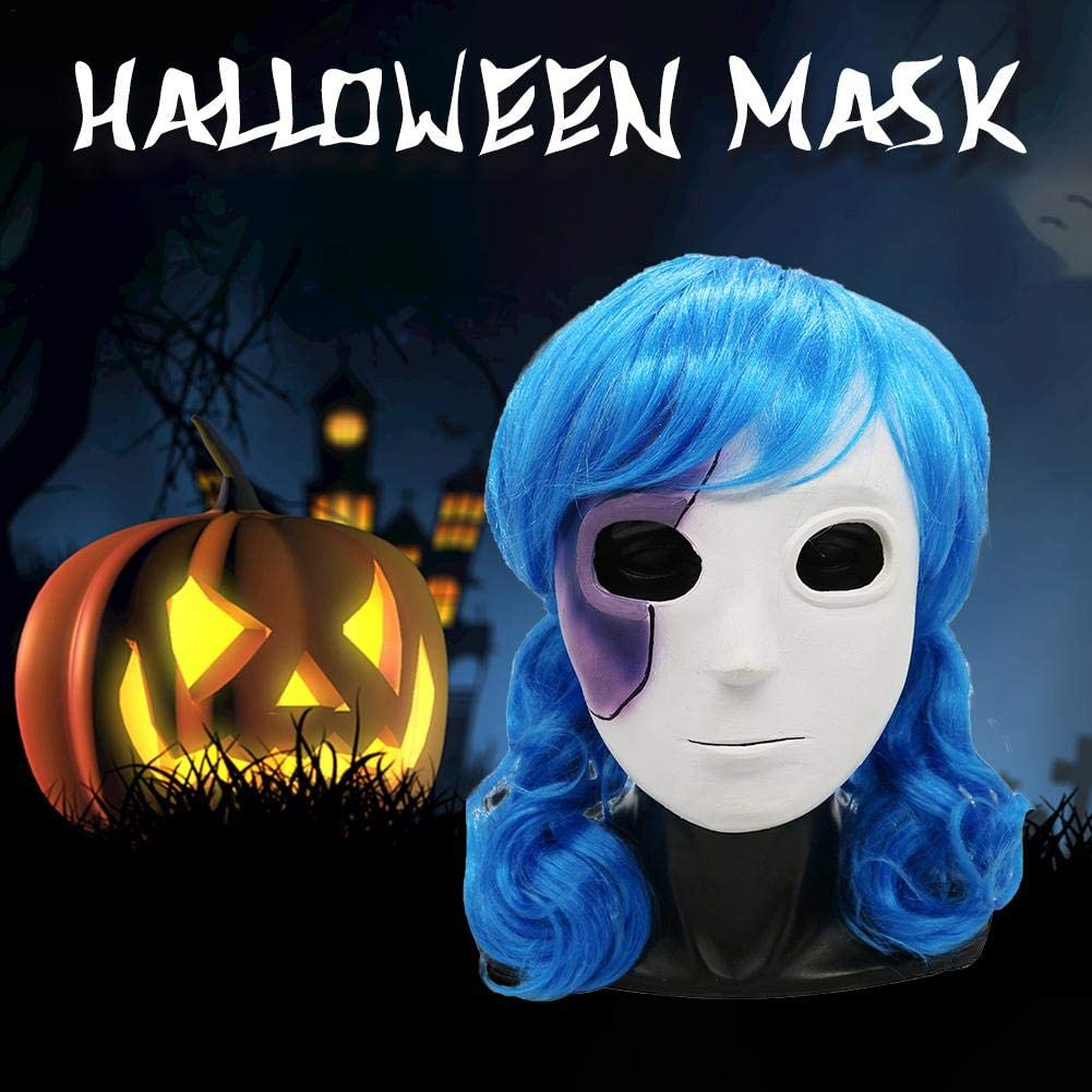 Jialai Dacyflower,Sally face mask,Unisex Latex Halloween Breathable Masks for Halloween//Birthday Party//Carnival//Costume Party Advantage