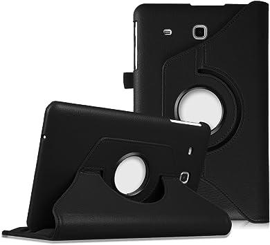 Appareil: 241.9 x 149.5 x 8.5mm, 9.6 Film /écran en Verre Tremp/é ebestStar Compatible Coque Samsung Galaxy Tab E 9.6 T560 T561 Housse Protection Etui PU Cuir Support Rotatif 360 Noir