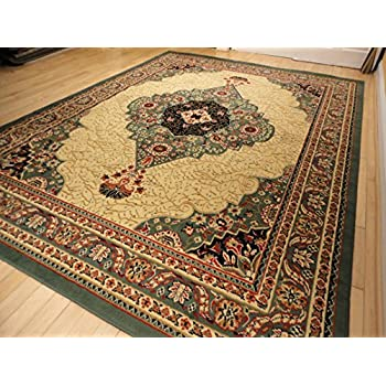 New Large 8x11 Green Persian Style Area Rug Traditional Rugs For Living Room 8x10 Red Cream Beige