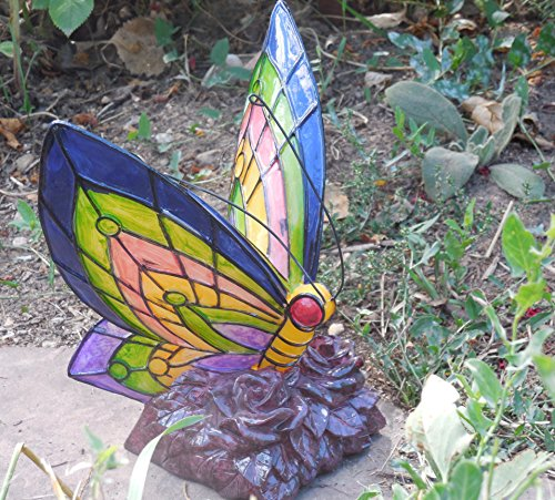 Florals Solar Butterfly Statue Light Led Garden Outdoor Yard Decor Landscape Statue Lamp Lights