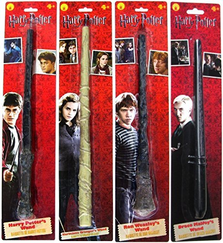 Bundle - 4: Harry Potter, Ron Weasley, Hermione Granger, Draco Malfoy Magic Wands ()