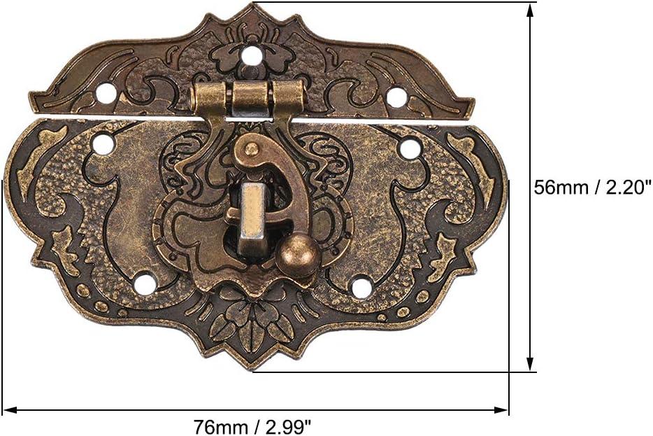 1 Stck sourcing map Holzkiste Verschluss Antique Riegel Haken mit Schrauben Box Haspe 76x56mm 76x56mm