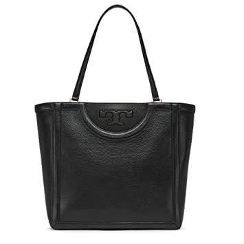 6f2b11f4eab Buy Tory Burch Handbag Serif-t Tote Bag Leather Black Online at Low Prices  in India - Amazon.in