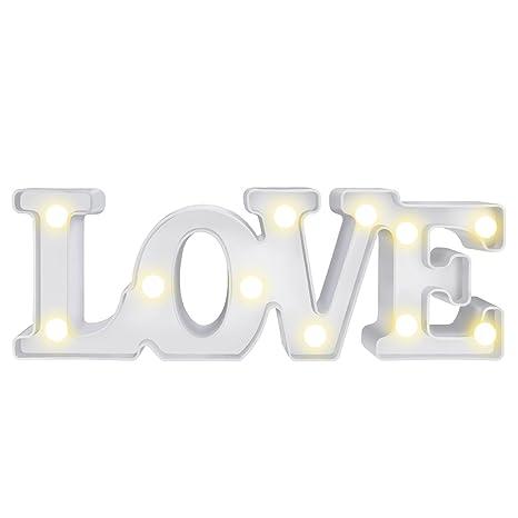 LOVE Lámpara de Mesa,MOOKLIN Lámpara de Tabla Lámpara de Noche Lámparas decorativas para Navidad de fiesta de Sala de Hogar Decoración de Pared - LOVE