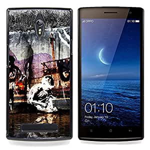 Eason Shop / Premium SLIM PC / Aliminium Casa Carcasa Funda Case Bandera Cover - Pintura Street Art Modern Graffiti Kid - For OPPO Find 7 X9077 X9007