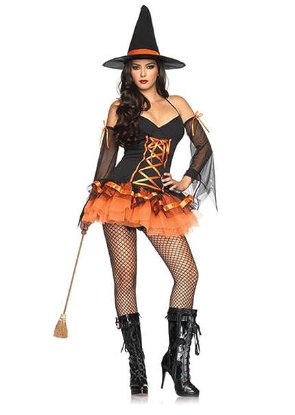 Amazon.com: Adulto negro y naranja Hocus Pocus disfraz de ...