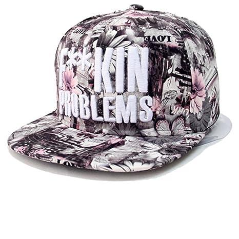 Kenmont Moda Hip-Hop Floreale Cappelli da baseball per ragazze Donne (Blu)   Amazon.it  Abbigliamento 7b2922d44e60