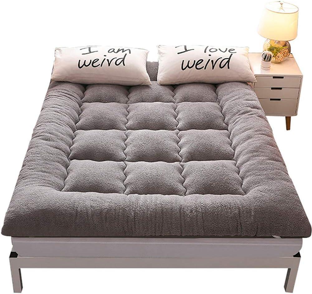 Wensa Plegable Colchón Suelo Tatami, Grueso Acolchado Suave Antiescaras Colchón futon Dormir Mat para Dormitorio Alcoba,A,150x200cm