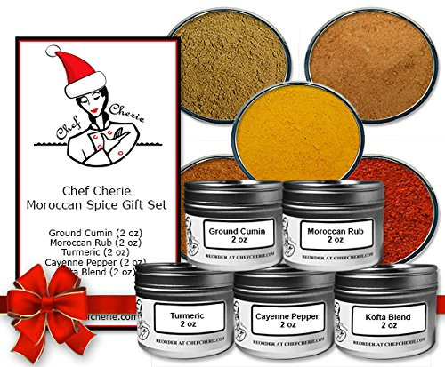 Chef Cherie's Moroccan Spice Gift Set #1 - Contains 5 2 oz. Tins
