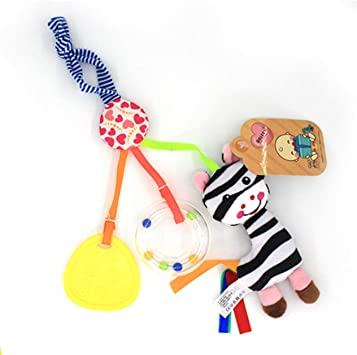 Educational Toys Animal Music Infant Hanging Bell Baby Stroller Bed Plush