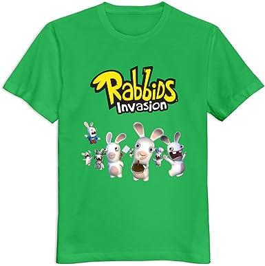 YWT Rabbids Invasion - Camiseta para hombre, diseño con logo de Rabbids Invasion, color verde: Amazon.es: Libros