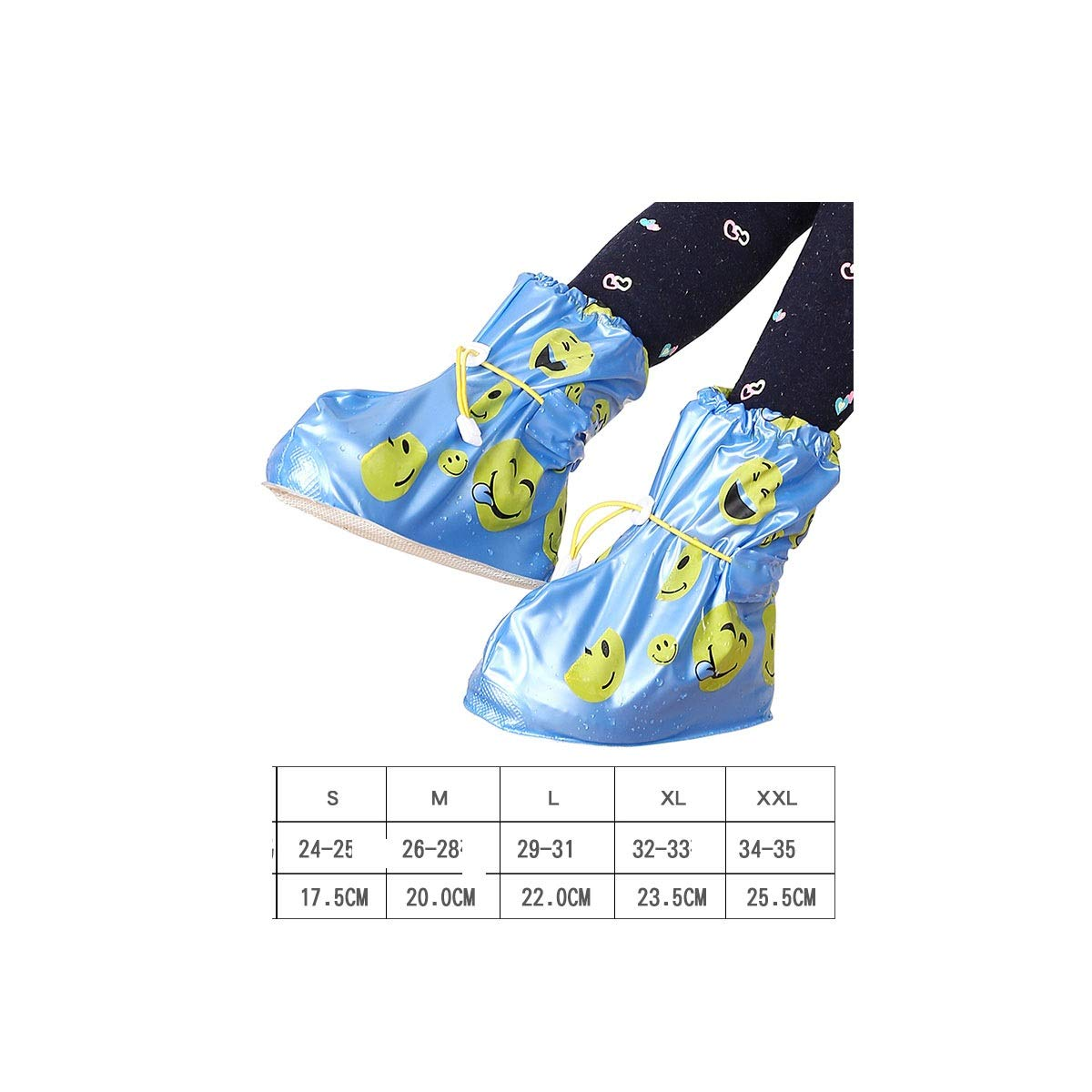 KAIYITONG Waterproof Rain Boots, Waterproof Rainy Days Students Silicone Non-slip Thick Wear-resistant Rain Men And Women Rain Boots Sets, Multiple Colors And Multiple Choices multi-purpose shoe cover