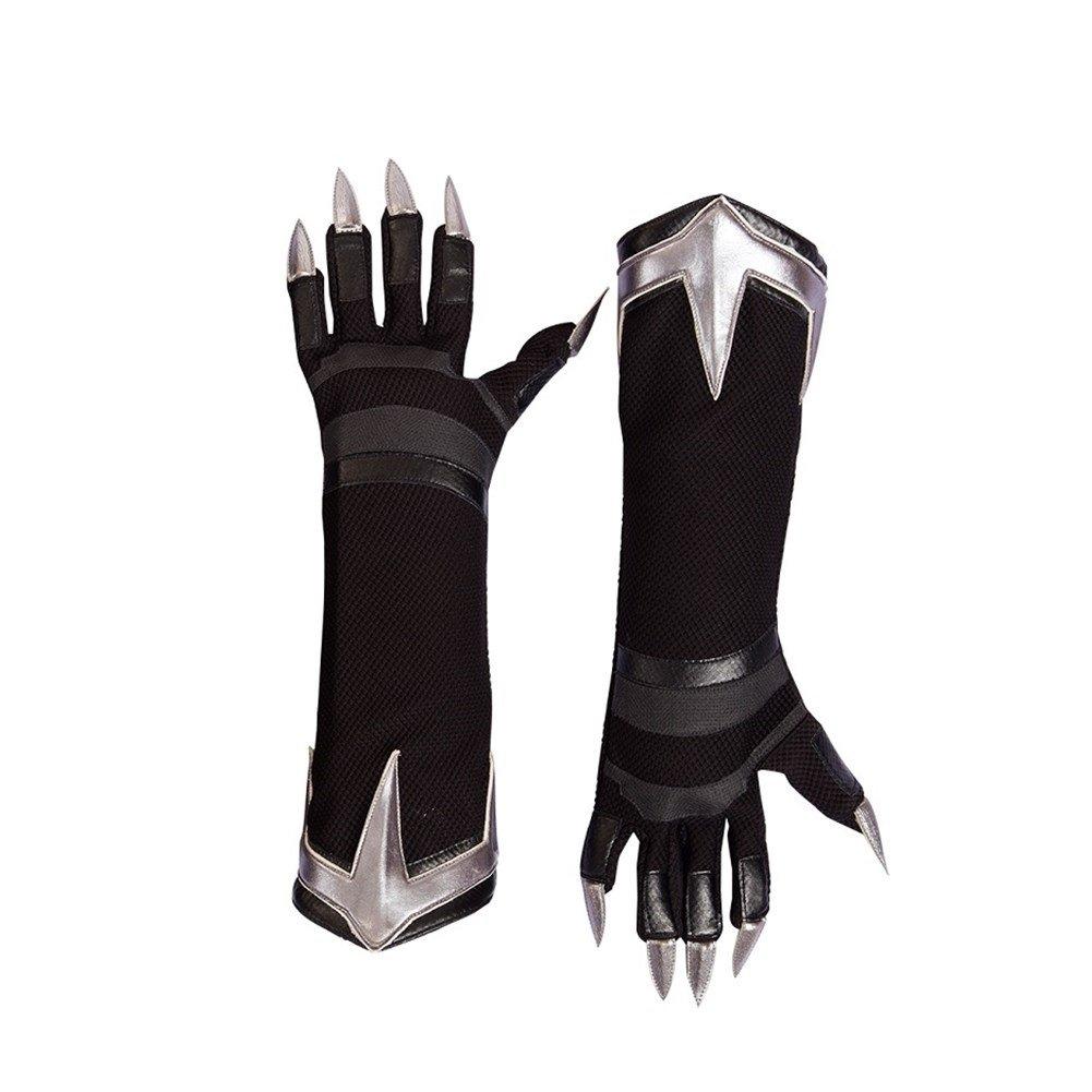 2018 New Black Panther Claws Gloves Cosplay Superhero Halloween Handmade Gloves