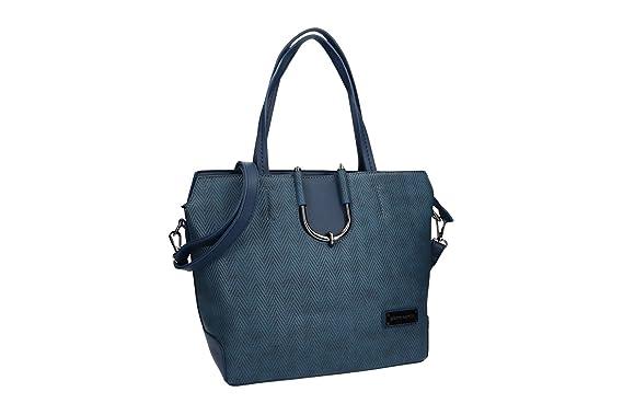 80b116cb2c731 Pam Shop Tasche damen mit Schultergurt PIERRE CARDIN blau mit zip VN1375